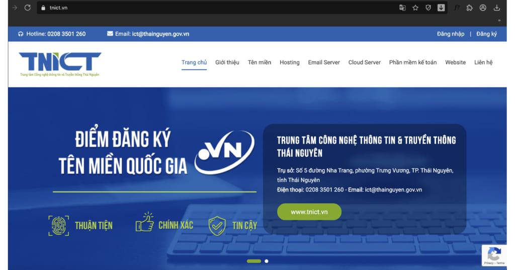 Cổng thông tin .vn của Thái Nguyên do GMO-Z.com RUNSYSTEM hỗ trợ